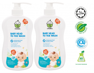 Baby Head To Toe Wash 500ml TWIN PACK