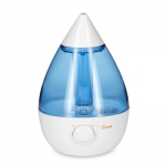 Drop Shape Ultrasonic Cool Mist Humidifiers - Blue/White